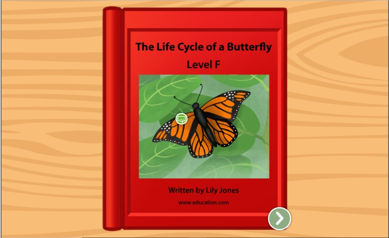 1st grade Reading & Writing Stories: The Life Cycle of a Butterfly: Level F