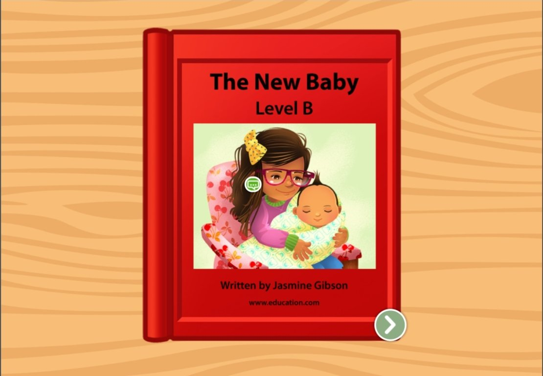 Kindergarten Reading & Writing Stories: The New Baby: Level B