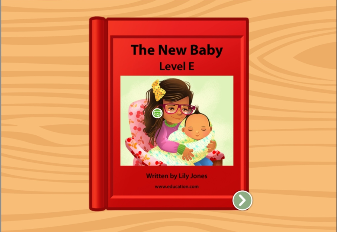 1st grade Reading & Writing Stories: The New Baby: Level E
