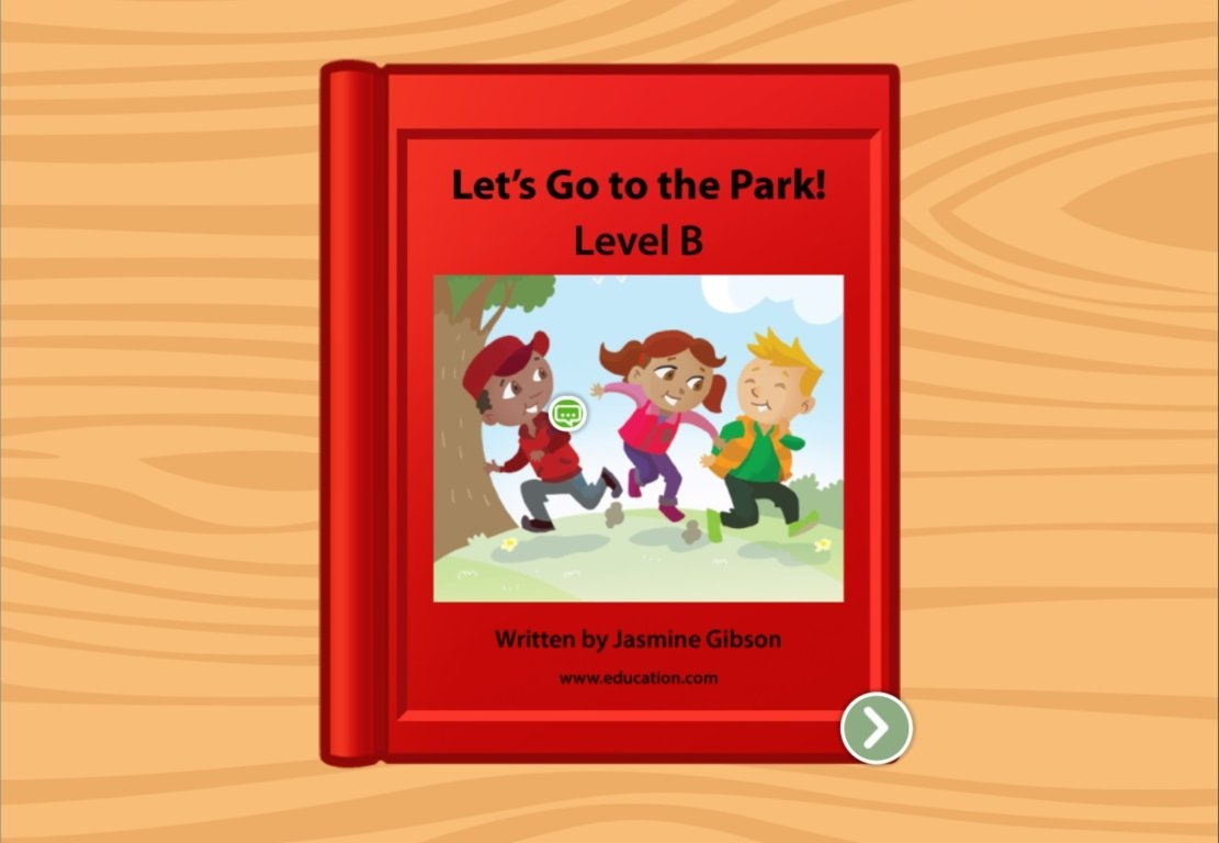 Kindergarten Reading & Writing Stories: The Park: Level B