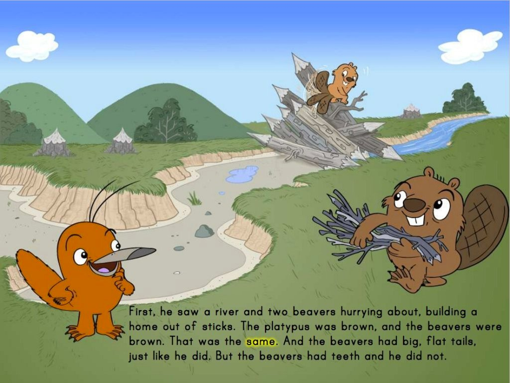 Preschool Math Stories: The Platypus
