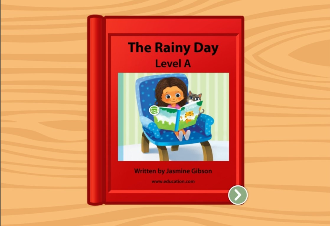 preschool Reading & Writing Stories: The Rainy Day: Level A