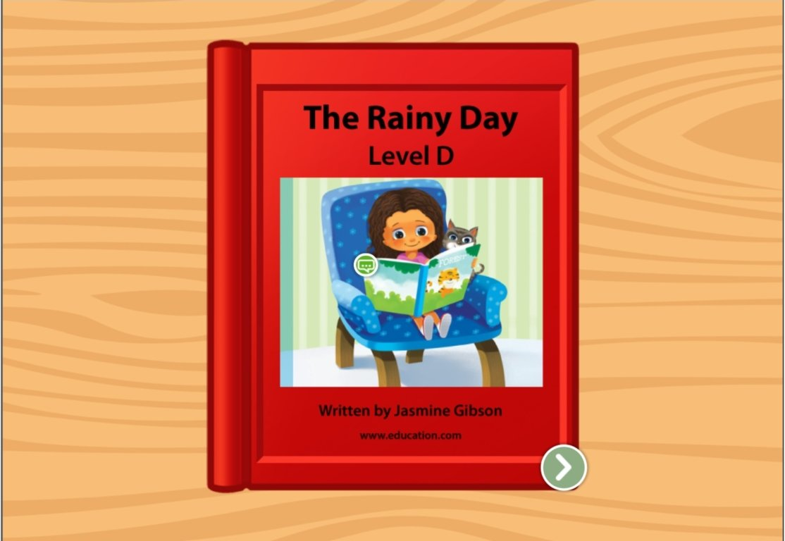 Kindergarten Reading & Writing Stories: The Rainy Day: Level D