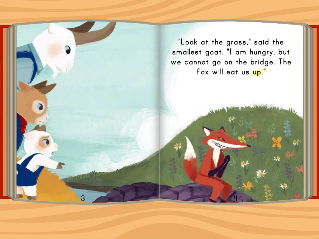 Worksheet Three Billy Goats Gruff Story three billy goats gruff story education com