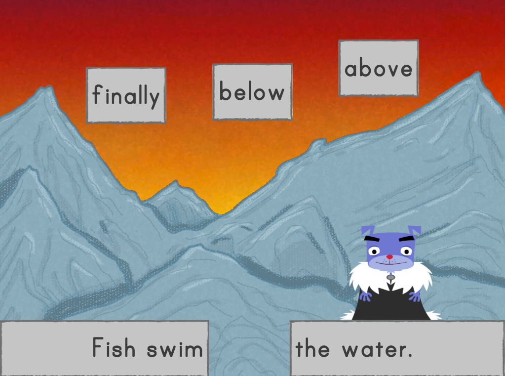 2nd grade Reading & Writing Games: Transition Words Fill-in-the-Blank