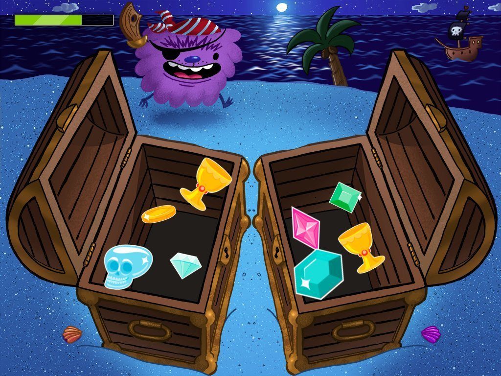 Kindergarten Math Games: Treasure Chest Match It!