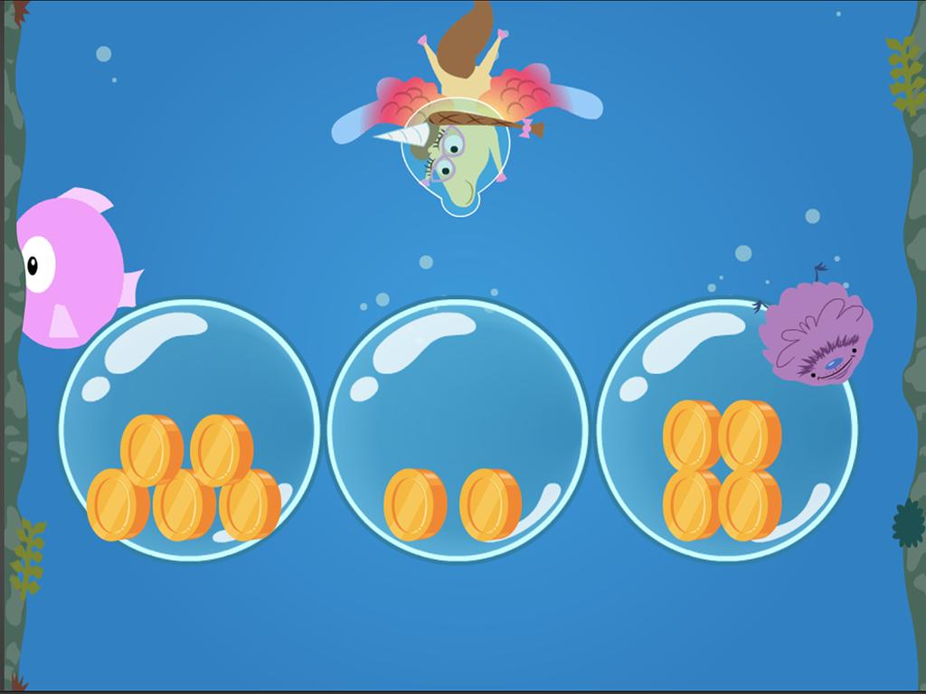 Preschool Math Games: Treasure Diving: Numbers 0-5