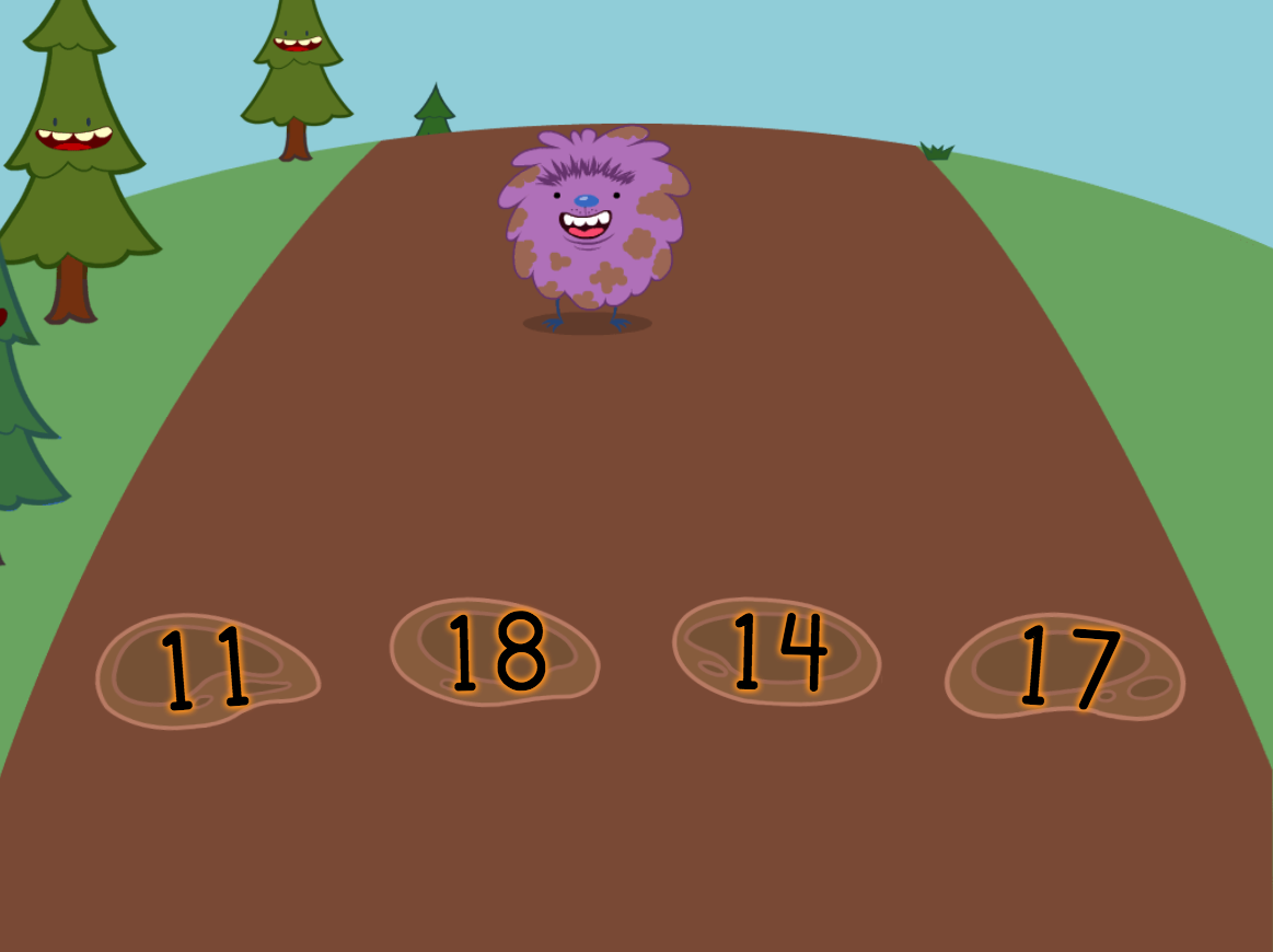 2nd grade Math Games: Two-Digit Number Hop