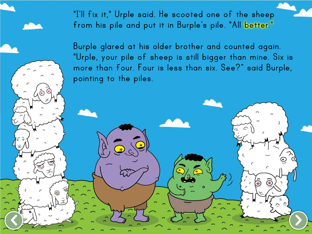 Comparing Numbers with Urple and Purple Story | Story | Education.com
