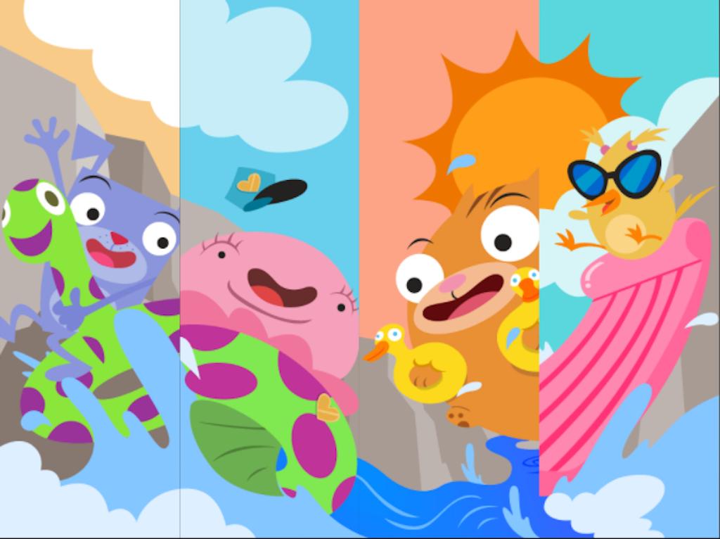 5th grade Math Games: Water Rafting: Adding Decimals