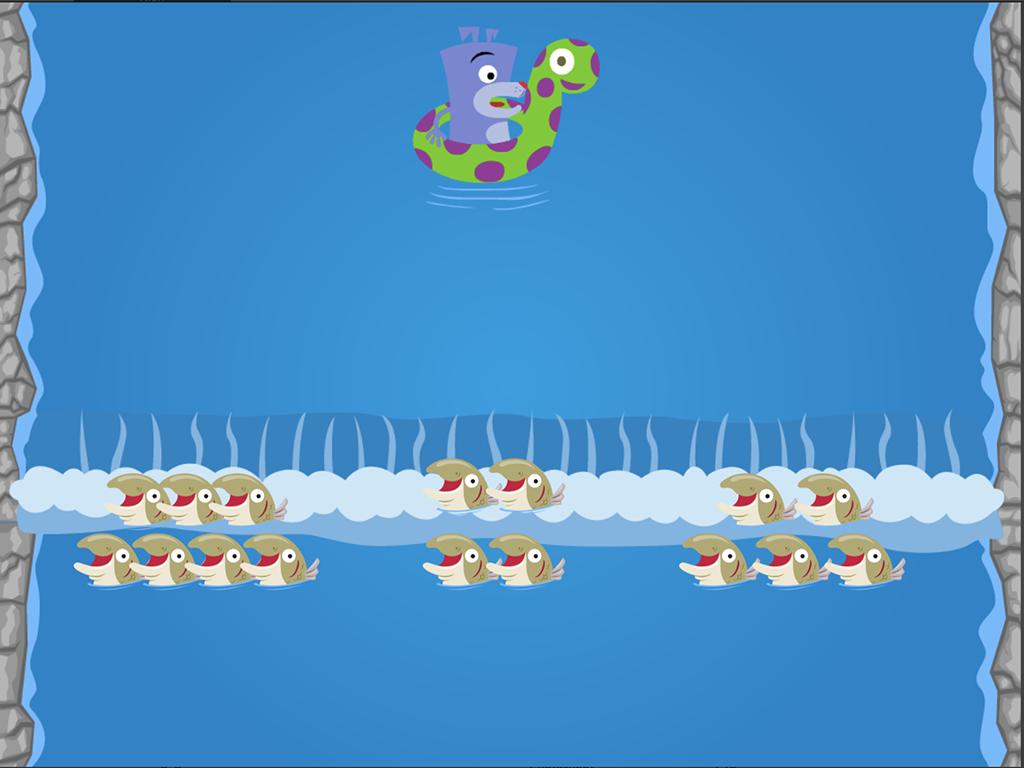 preschool Math Games: Water Rafting: Numbers 1-10