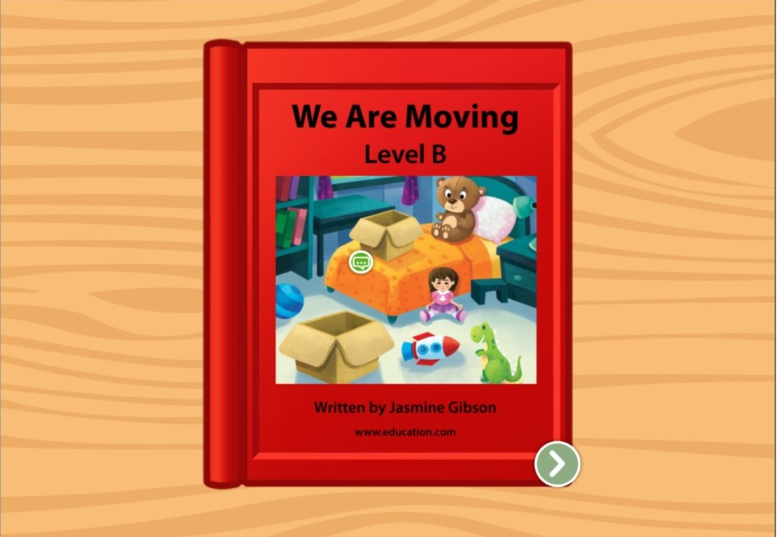 kindergarten Reading & Writing Stories: We Are Moving: Level B
