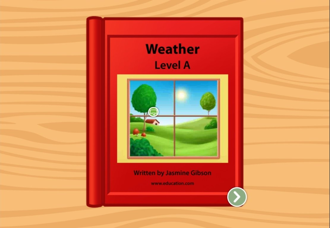 preschool Reading & Writing Stories: Weather: Level A