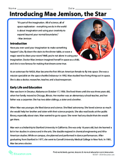 Introducing Mae Jemison, the Star