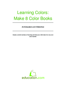 Learning Colors Booklet