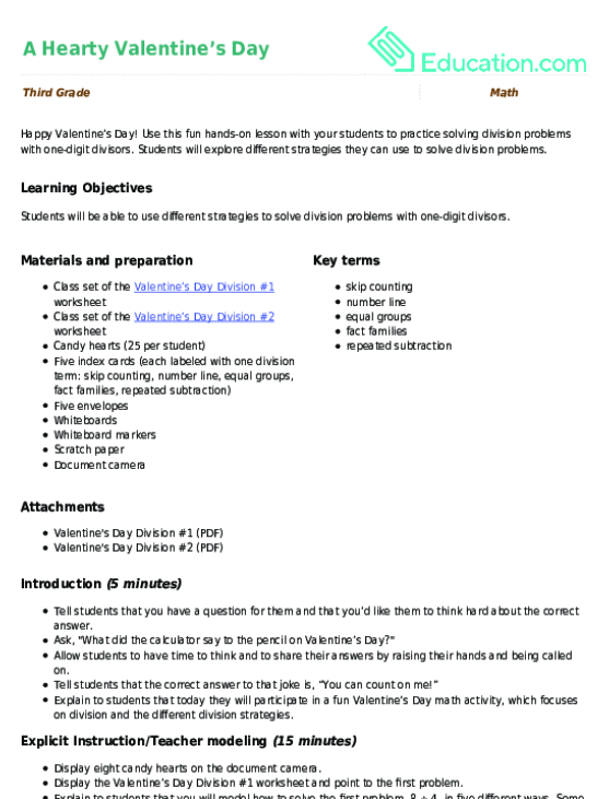 Division Word Problems With Onedigit Divisors Exercise. A Hearty Valentine's Day. Worksheet. Division As Repeated Subtraction Worksheets At Mspartners.co
