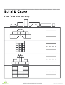 Build and Count worksheet