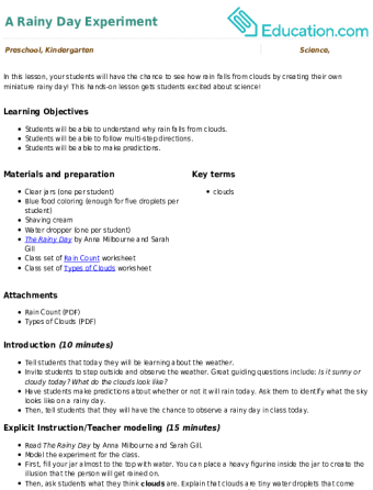 Types of Clouds | Worksheet | Education.com