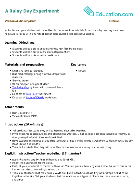 Types of Clouds Worksheet – Clouds Worksheet