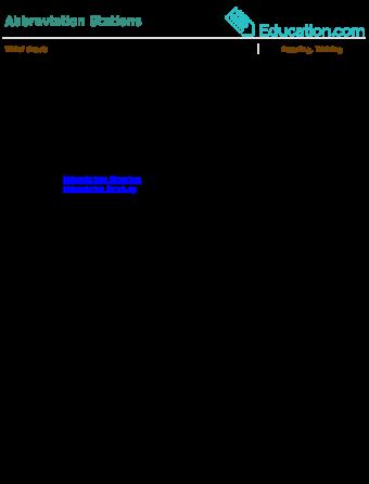 Englishlinx.com | Abbreviations Worksheets
