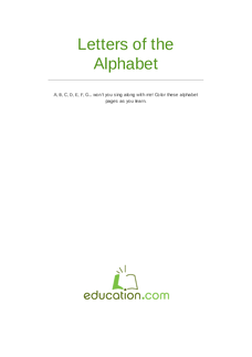 Letters of the Alphabet set