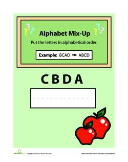 Alphabet Mix Up