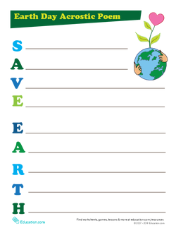 Earth Day Acrostic Poem