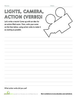 Lights, Camera, Action (Verbs)!