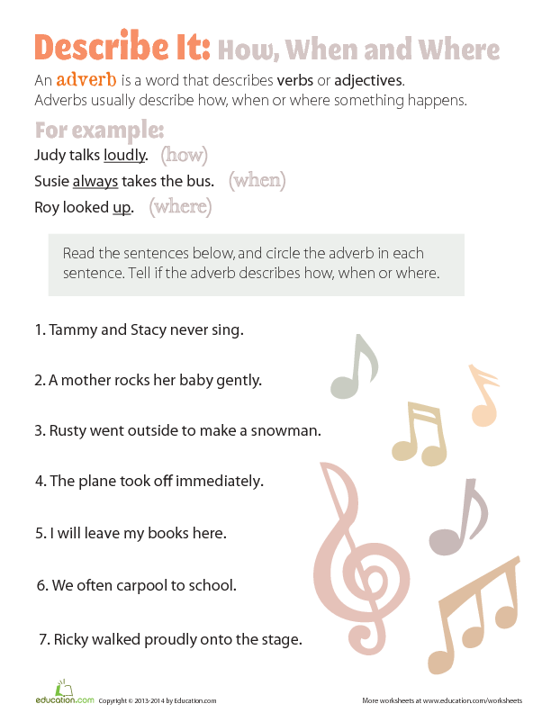 5th Grade adverbs worksheets 5th grade : Adventures with Adverbs | Lesson Plan | Education.com