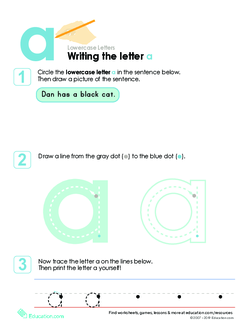 Writing the Letter a
