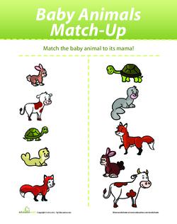 Baby Animals Match-Up