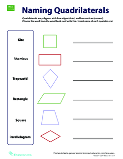 Are you connected to me lesson plan education write the word quadrilateral on the board ccuart Image collections