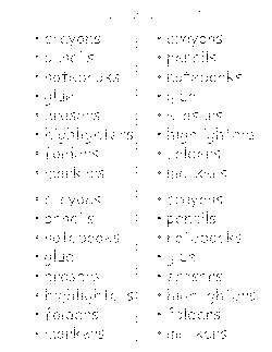 School Supply Lists and Budget Sheets