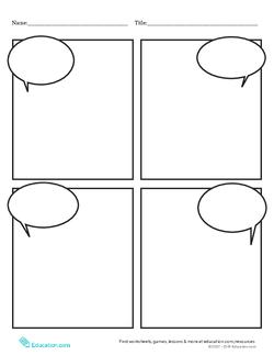 Blank Comic Strip Worksheet