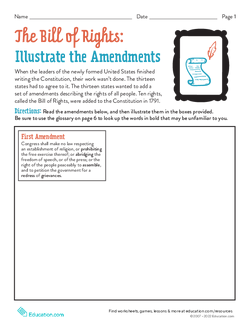 Illustrate the Bill of Rights