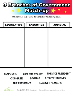 Three Branches of Government Match-Up
