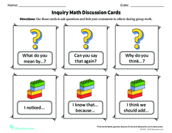 Inquiry Math Discussion Cards