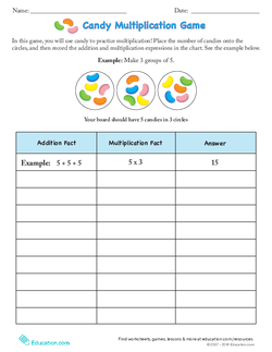 Candy Multiplication Game