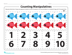 Counting Manipulatives 1-10