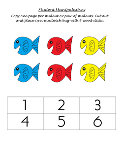 Fish and Numbers Student Manipulatives