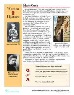 Women in History: Marie Curie