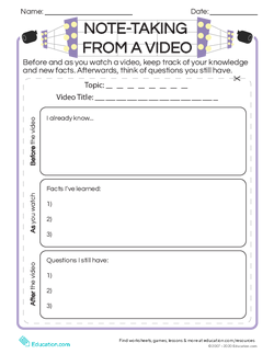 Note-Taking from a Video