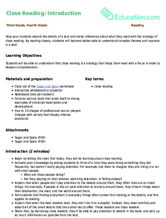 3rd Grade Reading Lesson Plans | Education.com