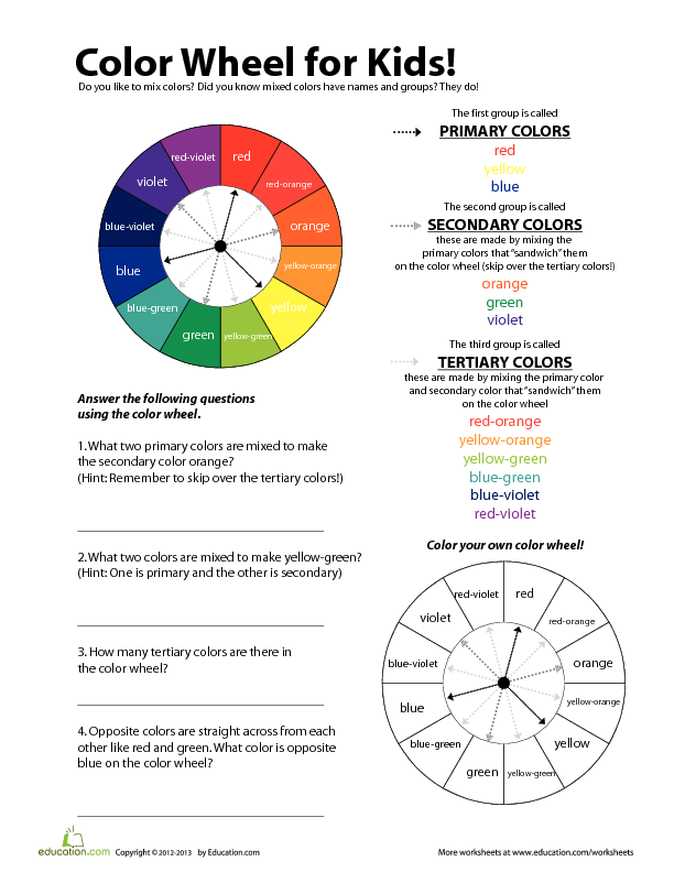 Primary And Secondary Colors Color Rainbow