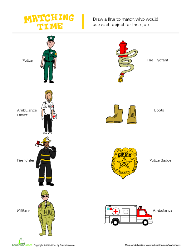 Community Helpers Worksheets : Community helpers their roles and tools lesson plan