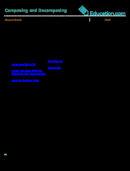 Composing and Decomposing | Lesson plan | Education.com