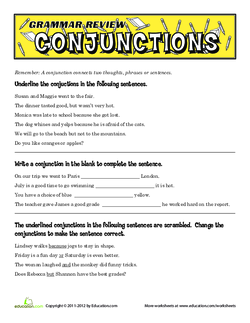 Grammar Review: Conjunctions