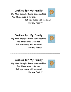 Cookies for My Family Poem