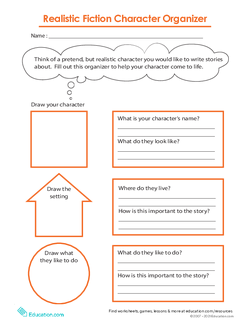 Realistic Fiction Character Organizer