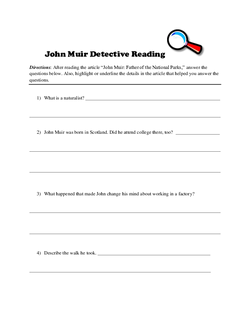 John Muir Detective Reading